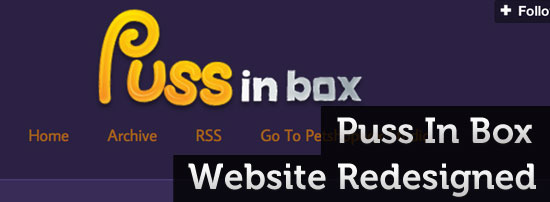 Puss In Box Website Redesign