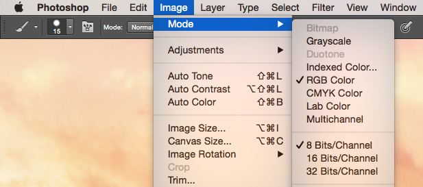 Photoshop Bits Option