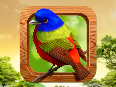Bird Matching iOS Icon by Alphabit