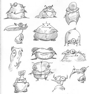 monster sketches for a friend by rob lawrence, tips and trick how to draw cute monster by petshopbox studio