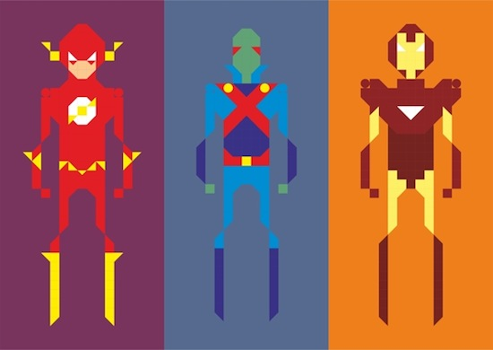 Pixel Game Superheroes and Villains by Sayon Chatterjee 1 weekly inspiration character design illustration blog by petshobox studio