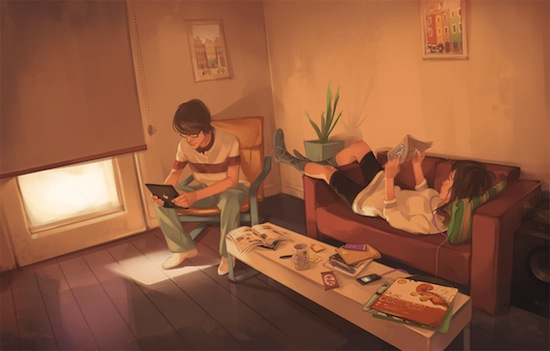 Relax by studioqube weekly inspiration illustration blog by petshopbox studio