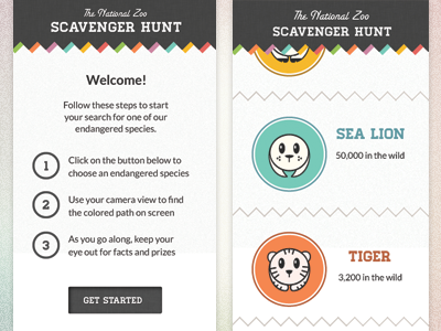 Scavenger Hunt App by Tyler Somers weekly inspiration UI design blog by petshopbox studio
