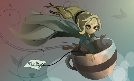 Tea-Witched by Paperbag-ninja weekly inspiration illustration blog by petshopbox studio