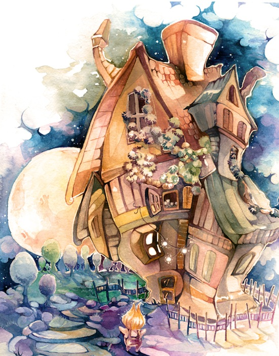 The Magician's House by laumiline weekly inspiration illustration blog petshopbox studio