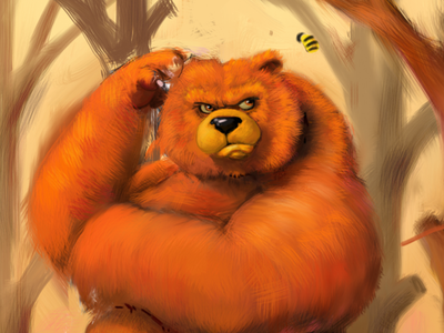 Wip Bear and Bee by Ben Girmann weekly inspiration illustration blog by petshopbox studio