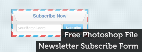 Free PSD File: Newsletter Subscribe Form