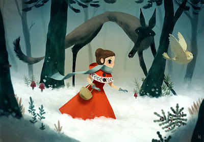 Little Red riding Hood by Romain Mennetrier