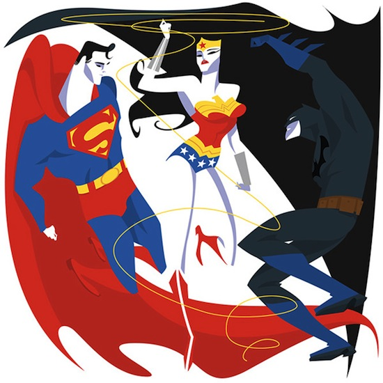 Superman, Batman, Wonderwoman by Steffi Schütze