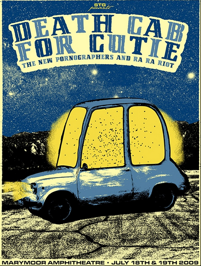 Death cab For Cutie poster gig by Nat Damm | Blog Weekly Inspiration #150 by Petshopbox Studio