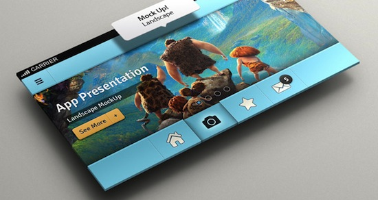 Perspective App Screen Mock-Up 2 by pixeden | Blog Weekly Inspiration #150 by Petshopbox Studio